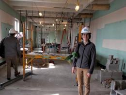 Lab under construction